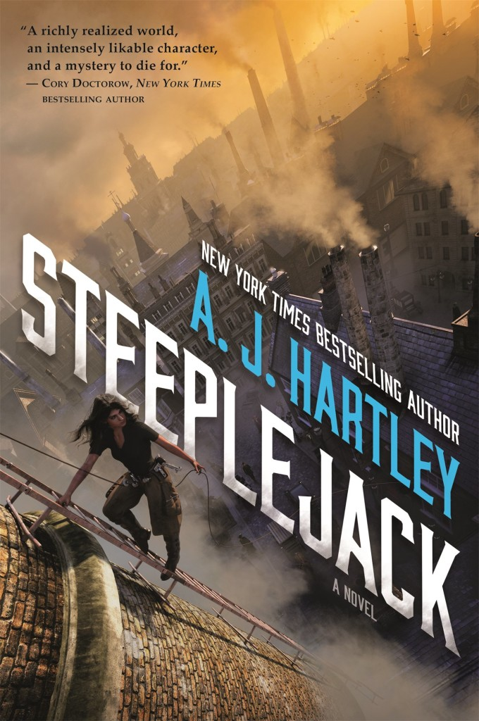 The cover of A.J. Hartley's Steeplejack
